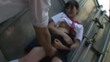 Azjatycka Zabawa W Autobusie