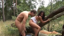 Zabawa Z Leśnym Ssakiem W środku Lasu